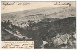 Panorama de la Mission Quaker � Broumanah - 1906 (cachet Beyrouth - Syrie)