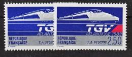 France 2607 TGV Variété Impression Décalée Trait Absent Sur Sncf Et Présent  Neuf ** TB MNH Sin Charnela - Varietà: 1980-89 Nuovi