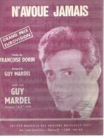 GUY MARDEL  Partitions - N'AVOUE JAMAIS  - éditions TUTTI ( PARTITION ) - Non Classés