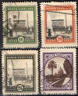 VATICANO - 1933 - GIARDINI DEL VATICANO - PALAZZO APOSTOLICO - USED - Used Stamps