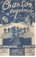 EDITH PIAF & LES COMPAGNONS DE LA CHANSON / L. DELYLE  Partitions - CHANSON VAGABONDE  - éditions ARPEGE ( PARTITION ) - Unclassified