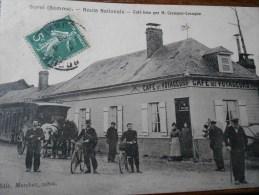 SOREL ROUTE NATIONALE CAFE TENU PAR M. CRAMPON-CRAMPON - Autres Communes