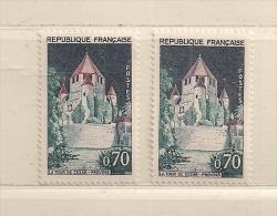 FRANCE  ( D16 - 8436 )  1963   N° YVERT ET TELLIER  N°  1392A     N** - Abarten: 1960-69 Briefe & Dokumente