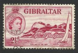 Gibraltar, 2 1/2 P. 1953, Sc # 136, Mi # 138, Used - Gibraltar