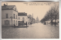 PARIS 75 - INONDATIONS JANVIER 1910 - La Grande Crue De La Seine : Quai De La Rapée - CPA - Seine - Alluvioni Del 1910