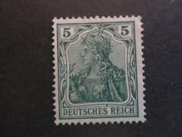 """Deutsches Reich 1905, Germania, Ungestempelt , Mit Wz 1 - Sogenannter """"Friedensdruck"""", Klarer Sauberer Druck - Ungebraucht"""