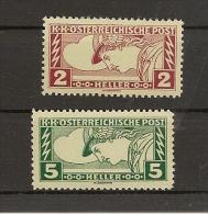 Austria/�sterreich 1917 Postfrisch/MNH/**  ANK 219 - 220 Eilmarken  Merkurkopf