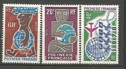POLYNESIE   N�  77 / 79 NEUF** LUXE  SANS CHARNIERE / MNH