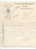Lettre Commerciale , Emaillerie Parisienne , Boulogne Billancourt , 1932 - Invoices & Commercial Documents
