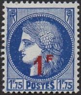 France N°  486 ** Type Céres 1F Sur 1F75 Bleu - Nuevos
