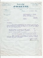 Lettre Commerciale , LACETS JOSETTE , Paris , 1934 - Factures & Documents Commerciaux