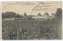 Cpa Bon Etat ,  Leognan    Château Carbonnieux , Carte Rare , Courrier Au Verso - Altri Comuni