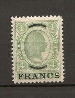 Austria/�sterreich auf Kreta 1903 Ungebraucht/Falz/*  ANK 7 4 Francs
