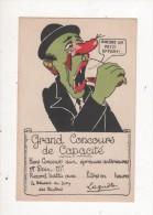 PROMOTION Carte Postale Ancienne HUMOUR GRAND CONCOURS DE CAPACITE Nez Rouge TËTE VERTE CHAPEAU - Humor