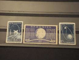 ROMANIA - P.A. 1959 SPAZIO 3 Valori - NUOVI(+) - Poste Aérienne