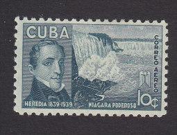 Cub, Scott #C35, Mint Hinged, Heredia And Niagara Falles. Issued 1940 - Airmail
