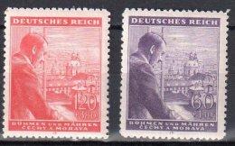 Böhmen Und Mähren 1943 Mi 126-127 **  - Siehe Scan - Ocupación 1938 – 45