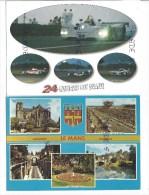 3 CPM - LE MANS (72) 24 Heures Du Mans - Multivues - (Voiture - Depart Circuit  - Courses - Tunnel - Sarthe - Horloge) - Le Mans