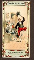 Chocolat Du Planteur Chromo Carte Postale, Domestiques, Concierge, Plumeau, Cuisinier - Cigarette Cards