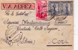 ITALIA   Storia Postale  Colonie   Tripoli  Cent. 50 + Coppia Di 25   Del  6 - 10 - 1939 - Italia