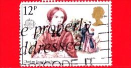 GB  - UK - GRAN BRETAGNA - Usato - 1980 - Europa - Autori Famosi - Charlotte Brontë, Di Barbara Brown - 12 - Usati