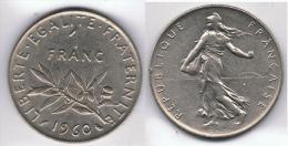 FRANCIA FRANCE 1 FRANC FRANCO 1960. A - Sin Clasificación