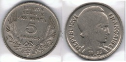 FRANCIA FRANCE 5 FRANC FRANCO 1933 - Sin Clasificación