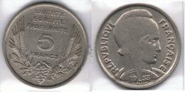FRANCIA FRANCE 5 FRANC FRANCO 1933 - Francia