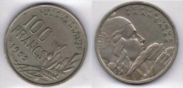 FRANCIA FRANCE 100 FRANCS FRANCOS 1955 - Sin Clasificación