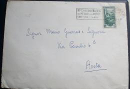 ITALIA 1951 - ITALIA AL LAVORO LIRE 10 SU BUSTA VIAGGIATA - 6. 1946-.. Republik