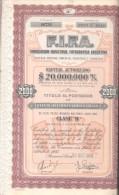 F.I.F.A. FABRICACION INDUSTRIAL FOTOGRAFICA ARGENTINA TITULO FUNDADA EN EL AÑO 1957 BUENOS AIRES ARGENTINA - Industrie