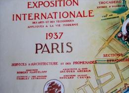 Plan De L Exposition International Des Art Et Des Techniques 1937 Plan En 3 Volets  Rare - Europe