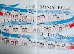 affiche des ministeres de la troisieme republique francaise 1871 a 1932 ( laval , clemenceau , dufaure ... )