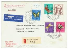 Suisse /Schweiz/Svizzera/Switzerland/Pro-Juventute // Lettre Recommandée  Pour Marrakech Série 1954 1er Jour - Pro Juventute