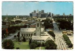 Etats Unis - Houston - Texas Largest City - Houston's Skyline As Seen From Main And Fannin Streets - Houston