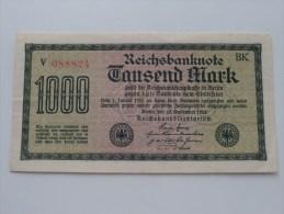 1000 Tausend MARK - N° V 088824 ! ( For Grade, Please See Photo ) ! - [ 3] 1918-1933 : Repubblica  Di Weimar