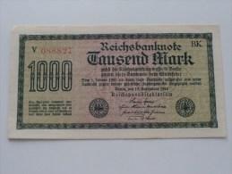 1000 Tausend MARK - N° V 088827 ! ( For Grade, Please See Photo ) ! - [ 3] 1918-1933 : Repubblica  Di Weimar