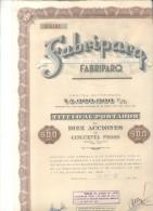 FABRIPARQ ROSARIO ARGENTINA  TITULO FUNDADA EN EL AÑO 1947 BUENOS AIRES ARGENTINA - Industrie