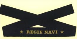 ITALIA REGNO / FASCISMO - Nastro Da Berretto Marina Regia Marina Originale *REGIE NAVI* - Marine