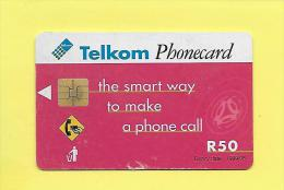 R50 Afrique Du Sud South Africa, Telkom Greetings From Your Lips 1998/08 USED - - Afrique Du Sud