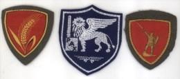 ITALIA - Lotto Tre Scudetti Omerali Originali: SETAF / Brigata Cremona / Brigata Legnano - Armée De Terre