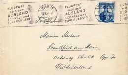 ÖSTERREICH 1957 - 2,40 S Auf LP-Brief Von Wien Nach Frankfurt, Rollenstempel - 1945-60 Cartas