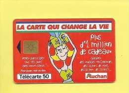 F1014 AUCHAN ROUGE 50U GEM2 *TBE*  1999/09 USED - - Frankreich