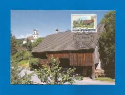 Liechtenstein  2000  Mi.Nr. 1232 , Mauren - Dorfansichten - Maximum Card - Mauren - 6. März 2000 - Maximumkarten (MC)