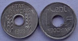 FRENCH INDOCHINA 1 CENT 1943 - Altri – Asia