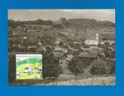 Liechtenstein  1999  Mi.Nr. 1196 , Mauren - 300 Jahre Unterland - Maximum Card - Mauren - Ausgabetag 1.3.99 - Maximumkarten (MC)