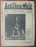 Circus Magazine Fachzeitschrift Für Varieté, Kabarett Und Zirkus Deutschland 1942 Year - German