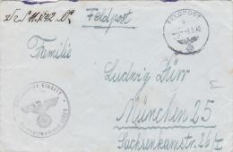 Feldpost WW2: From St. Denis In France - Funkuberwachungs-Kompanie 3/9 FP 29928 And Also Cachet From Kreis-Kommandantur - Militaria