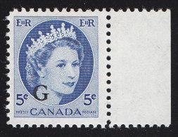 """CANADA - Scott # O44 Queen Elizabeth II """"O.H.M.S. Overprinted"""" (*) / Mint H Stamp - Service"""