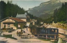 SWITZERLAND - BRUNIG - BAHNHOFBUFFET - TRAIN, CONDUCTOR, PASSENGERS, STATION - VINTAGE ORIGINAL POSTCARD - BE Berne